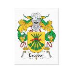 Escudo de la familia de Escobar Lona Envuelta Para Galerías