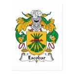 Escudo de la familia de Escobar Postal
