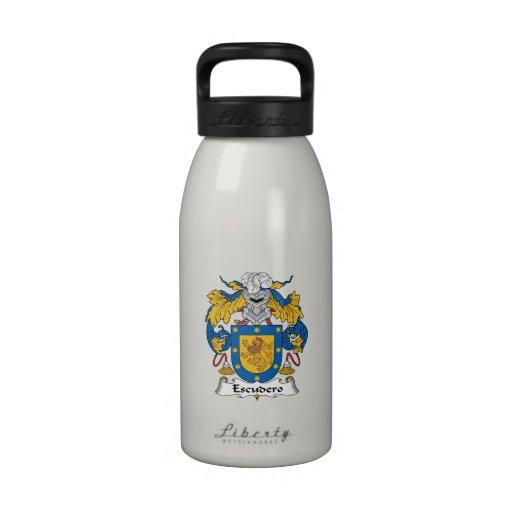 Escudo de la familia de Escudero Botellas De Beber