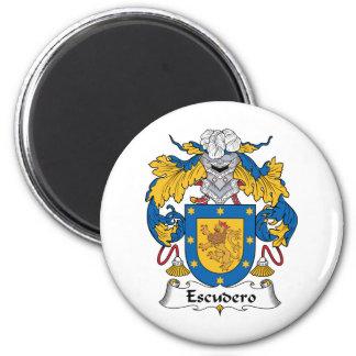 Escudo de la familia de Escudero Imán Para Frigorifico