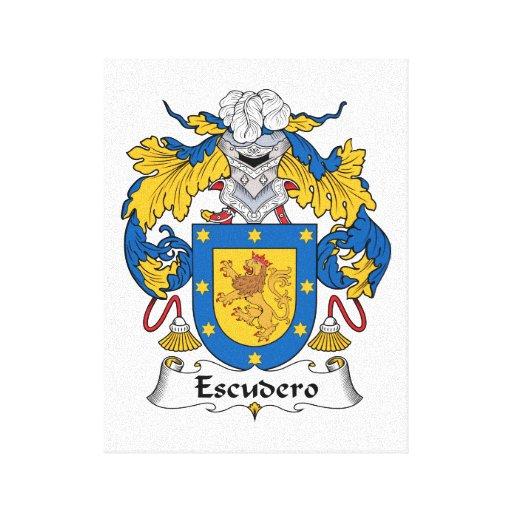 Escudo de la familia de Escudero Impresión En Lona
