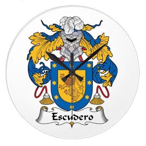 Escudo de la familia de Escudero Reloj Redondo Grande