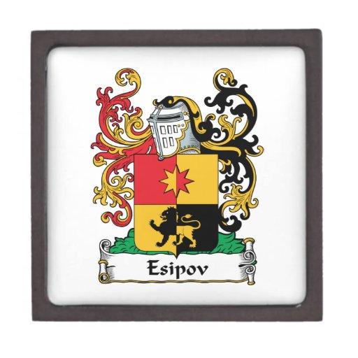 Escudo de la familia de Esipov Caja De Recuerdo De Calidad