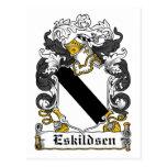 Escudo de la familia de Eskildsen Postal