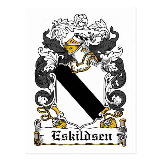 Escudo de la familia de Eskildsen Tarjeta Postal