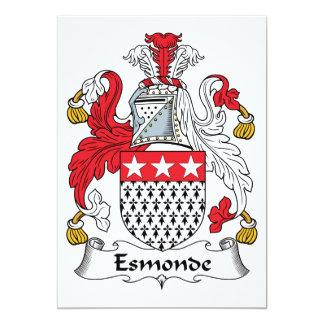 Escudo de la familia de Esmonde Invitación 12,7 X 17,8 Cm
