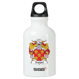 Escudo de la familia de Espigol Botella De Agua
