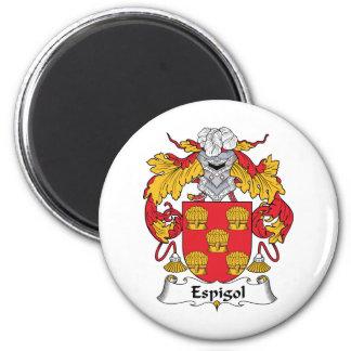 Escudo de la familia de Espigol Imán Redondo 5 Cm