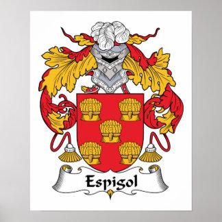 Escudo de la familia de Espigol Impresiones