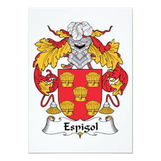 """Escudo de la familia de Espigol Invitación 5"""" X 7"""""""