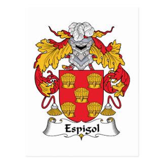 Escudo de la familia de Espigol Tarjeta Postal