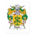 Escudo de la familia de Espin Postal
