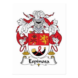 Escudo de la familia de Espinosa Postal