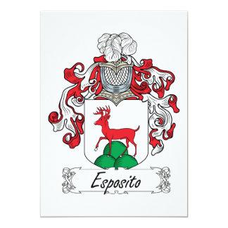 Escudo de la familia de Esposito Invitación 12,7 X 17,8 Cm