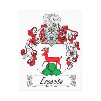 Escudo de la familia de Esposito Lienzo Envuelto Para Galerías