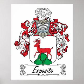 Escudo de la familia de Esposito Poster
