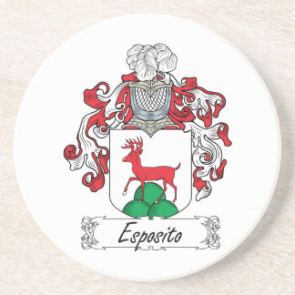 Escudo de la familia de Esposito Posavasos Para Bebidas