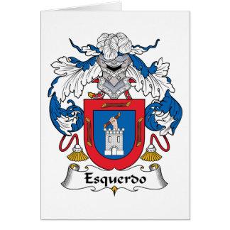 Escudo de la familia de Esquerdo Tarjeta De Felicitación