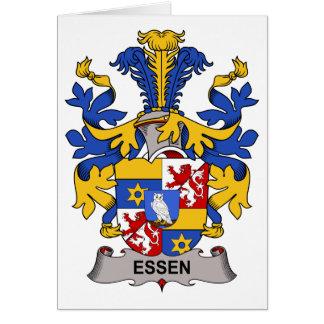 Escudo de la familia de Essen Felicitacion