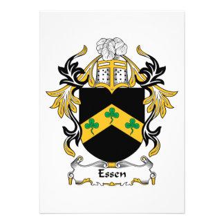 Escudo de la familia de Essen Invitación Personalizada