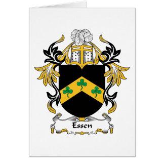 Escudo de la familia de Essen Tarjeta