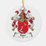 Escudo de la familia de Esser Ornamento De Navidad