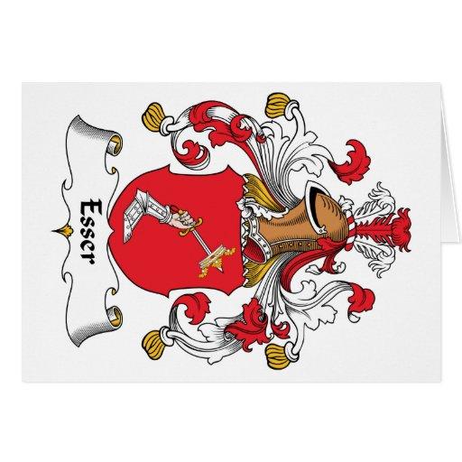Escudo de la familia de Esser Tarjeta De Felicitación