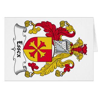 Escudo de la familia de Essex Felicitacion