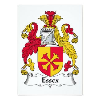 """Escudo de la familia de Essex Invitación 5"""" X 7"""""""