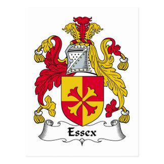 Escudo de la familia de Essex Tarjeta Postal
