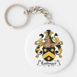 Escudo de la familia de Esslinger Llavero Redondo Tipo Pin