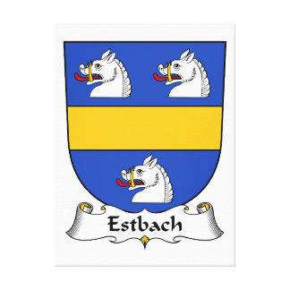 Escudo de la familia de Estbach Impresiones En Lona Estiradas