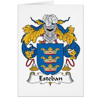 Escudo de la familia de Esteban Tarjeta De Felicitación