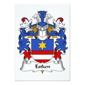 """Escudo de la familia de Estken Invitación 5"""" X 7"""""""