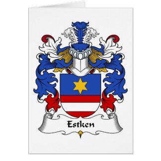 Escudo de la familia de Estken Tarjeta De Felicitación
