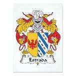 Escudo de la familia de Estrada Invitación 12,7 X 17,8 Cm