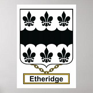 Escudo de la familia de Etheridge Póster