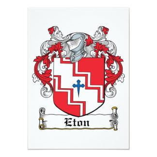 """Escudo de la familia de Eton Invitación 5"""" X 7"""""""