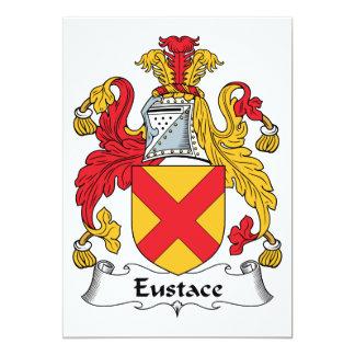 Escudo de la familia de Eustace Invitación 12,7 X 17,8 Cm
