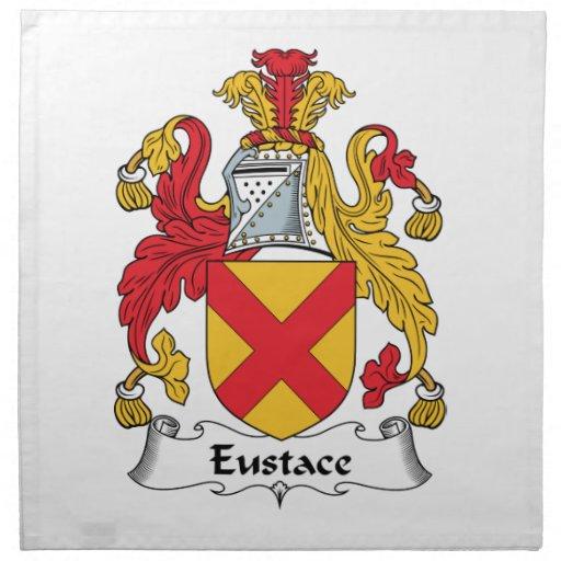 Escudo de la familia de Eustace Servilletas Imprimidas