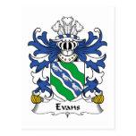 Escudo de la familia de Evans Postal