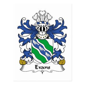 Escudo de la familia de Evans Postales