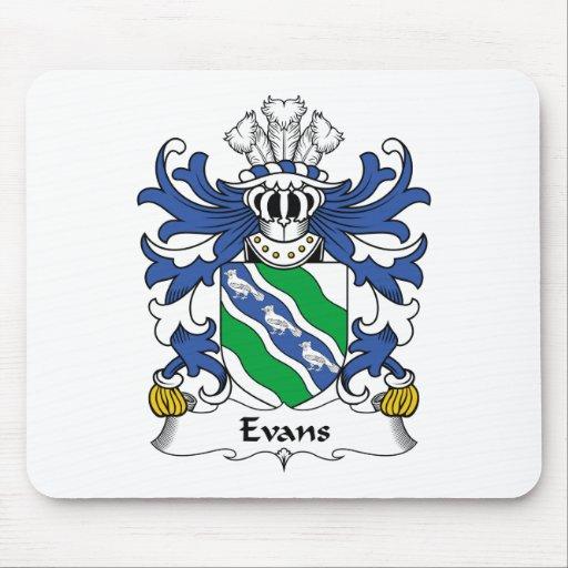 Escudo de la familia de Evans Tapetes De Ratones