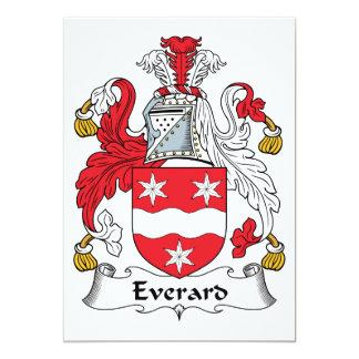 Escudo de la familia de Everard Invitación 12,7 X 17,8 Cm