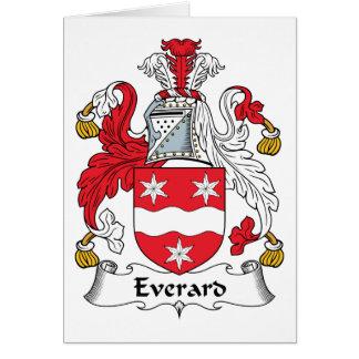 Escudo de la familia de Everard Tarjeta De Felicitación