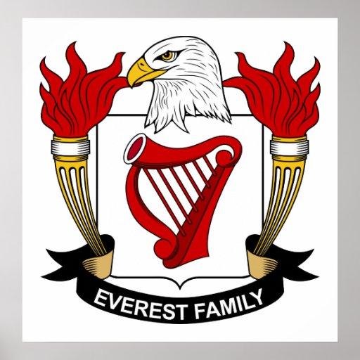 Escudo de la familia de Everest Poster