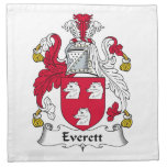 Escudo de la familia de Everett Servilleta