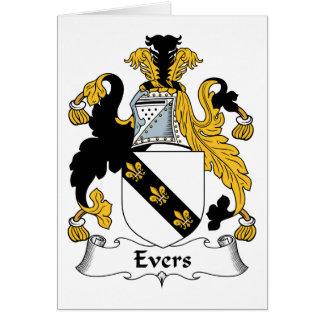 Escudo de la familia de Evers Felicitación