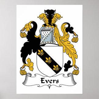Escudo de la familia de Evers Impresiones