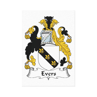 Escudo de la familia de Evers Impresiones En Lona